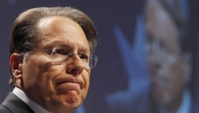 CEO of the National Rifle Association Wayne LaPierre at the 38th annual CPAC meeting in Washington