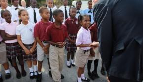 New Florida Governor Rick Scott  Visits Charter School