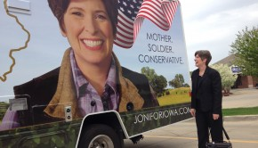URBANDALE, IA - MAY 9:Iowa State Sen. Joni Ernst, who is running for the US Senate on May 9. 2014 in Urbandale, IA.(Photo by Dan Balz/The Washington Post)