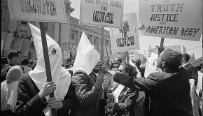 Ku Klux Klan members supporting Barry Goldwater's campaign for the presidential nomination at the Republican National Convention, San Francisco, California